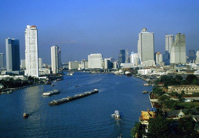 Skyline of Bangkok, Thailand