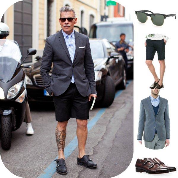 Как это носить: 5 мужских образов с шортами-бермудами