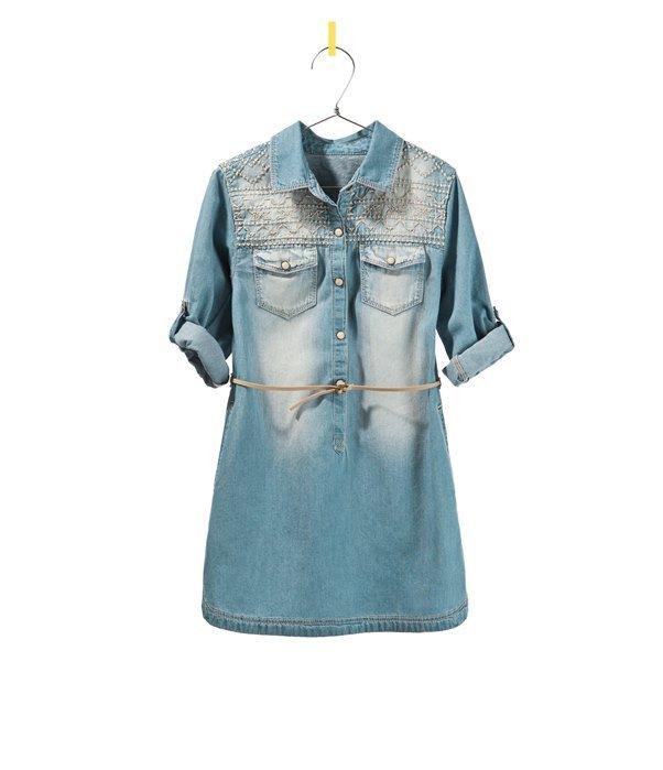 Джинсовое платье: фото стильных моделей