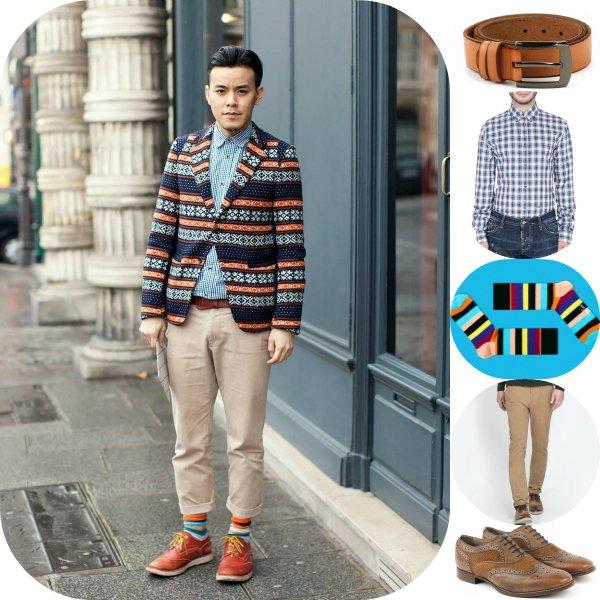 Как это носить: 5 мужских образов с пиджаком в принт