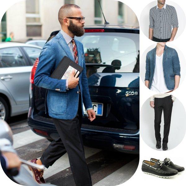 Как носить деним летом - 5 мужских образов с улиц