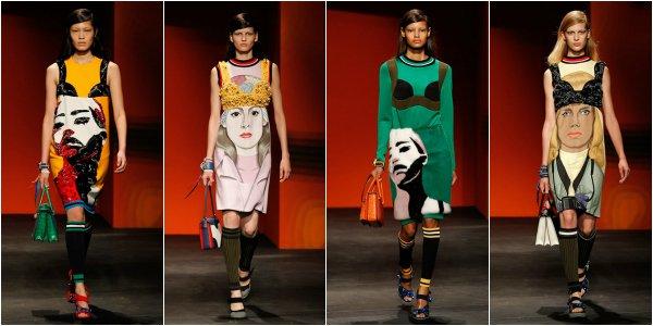 Prada весна-лето 2014 на Milan Fashion Week
