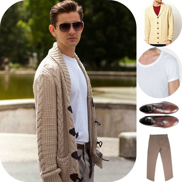 Как это носить: 5 мужских образов с вязаным кардиганом
