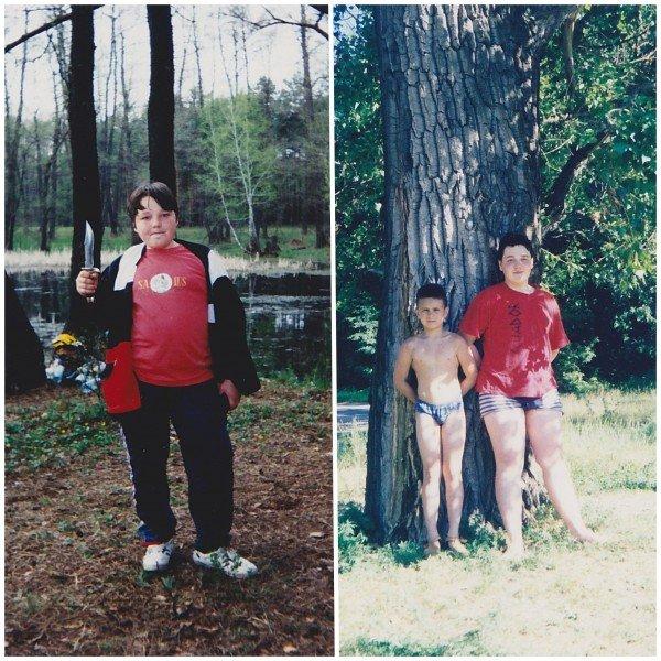 Слева - 8 лет, справа - 12 лет.
