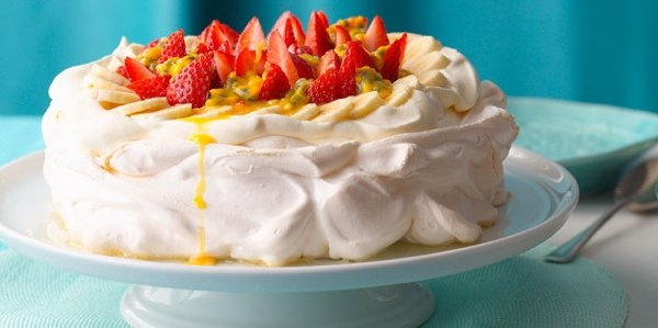рецепт торта с безе и фруктами
