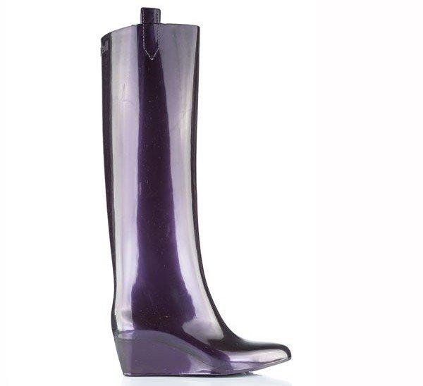 сапоги глянцевые фиолетовые, Kartell 1849 грн