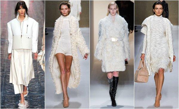 Тренд: белый цвет осенью и зимой