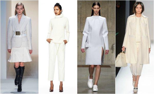 Тренд: носим белый цвет осенью и зимой