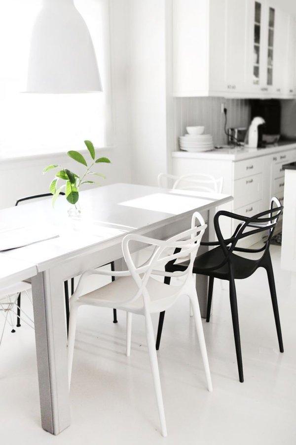 Черное и белое в интерьере - мебель