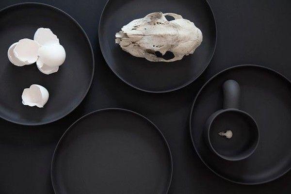 Food-фото: идеи для дома - черное-белые кухонные аксессуары