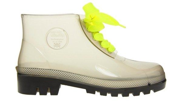 прозрачные ботинки на неоновых шнурках  Juju, 640 грн