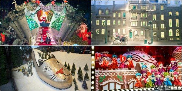 10 самых лучших рождественских витрин Европы и Америки
