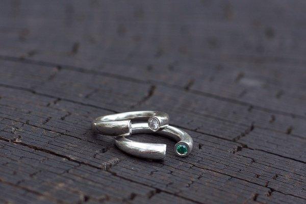 Серебряное кольцо в стиле неоклассика с цветными камнями Lena Yastreb, 525 грн