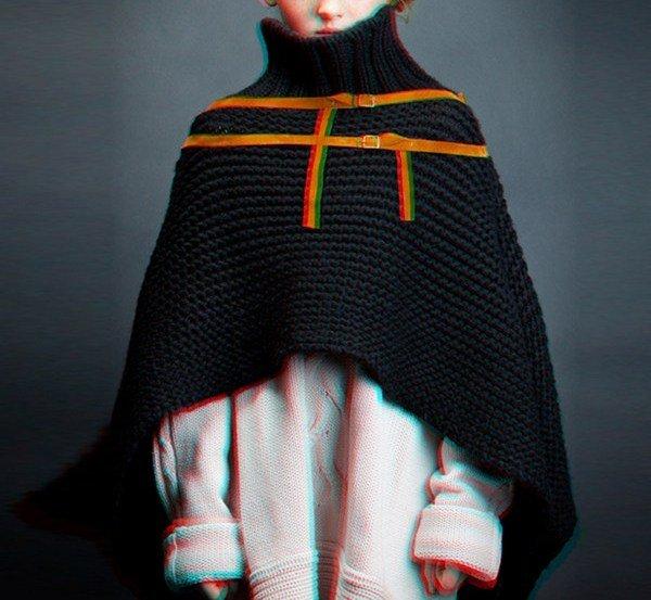 Шерстяная шаль Lan', около 700 грн