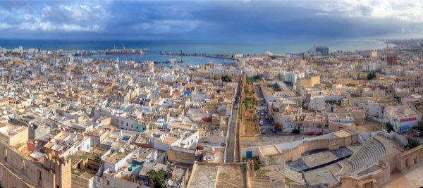 Aerial-view-on-medina-in-Sousse,-Tunisia,-Africa 1