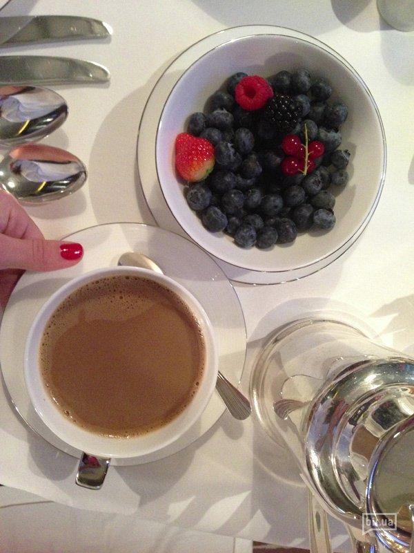 Завтрак в Mandarin Oriental Geneve