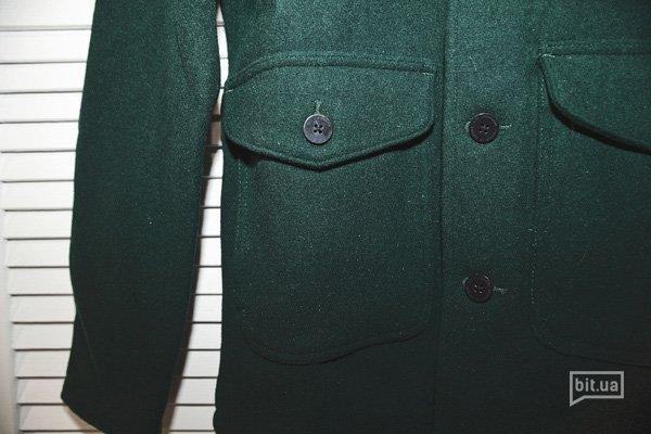 зеленое пальто Han Kjobenhavn Mailman Jacket 4300 грн