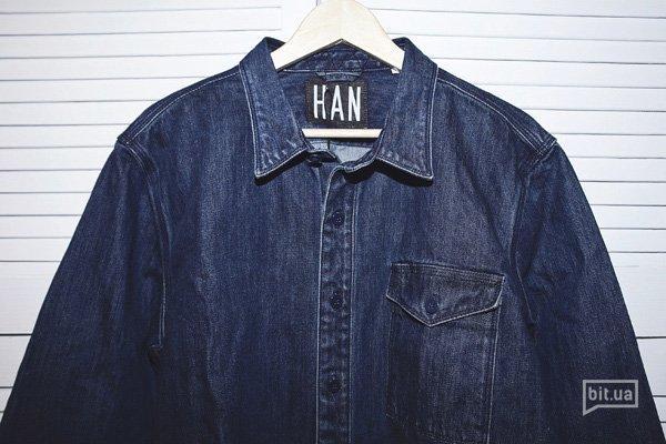 джинсовая рубашка Han Kjobenhavn Rugged Shirt Selvage Denim, 1830 грн