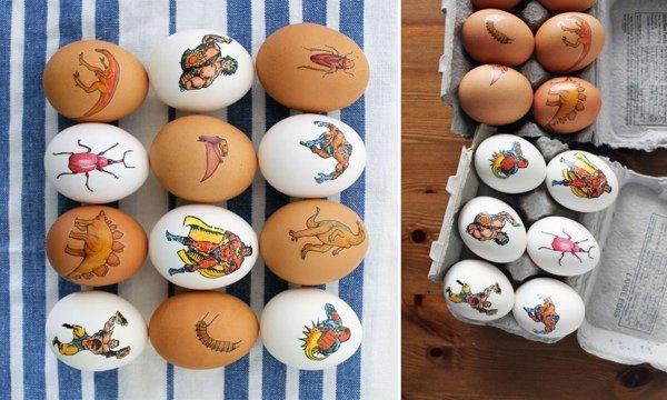 10 крутых идей как небанально разукрасить и покрасить пасхальные яйца