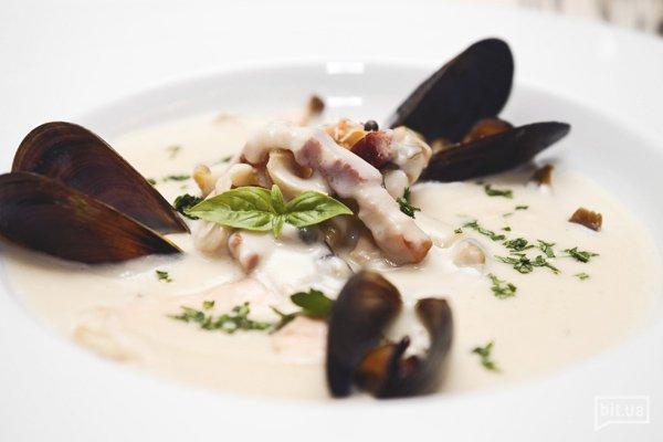 Чаудер с морепродуктами — 78 грн
