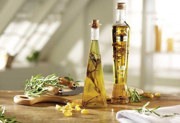 Bottled Vinegars In Kitchen
