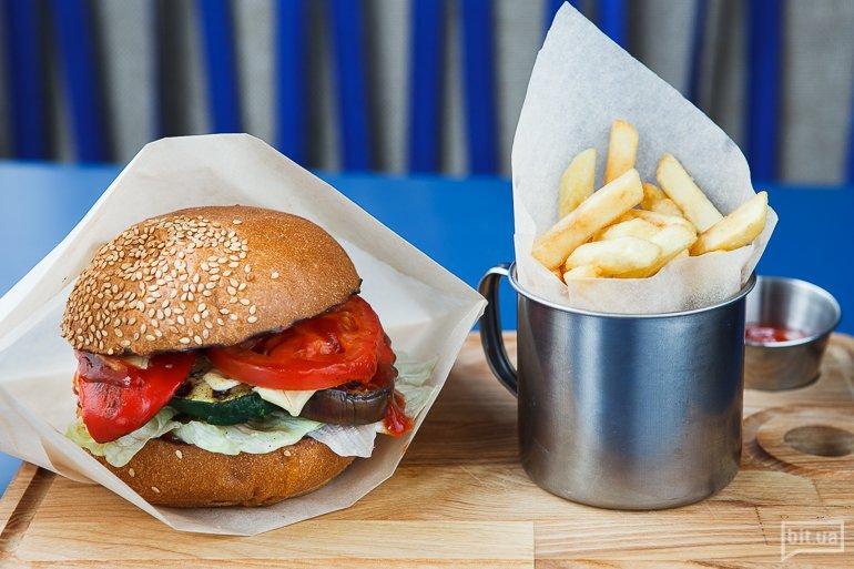 Бургер с овощами-гриль - 69 грн