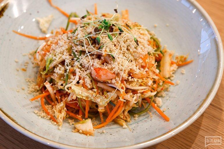 Тайский салат с креветками - 95 грн