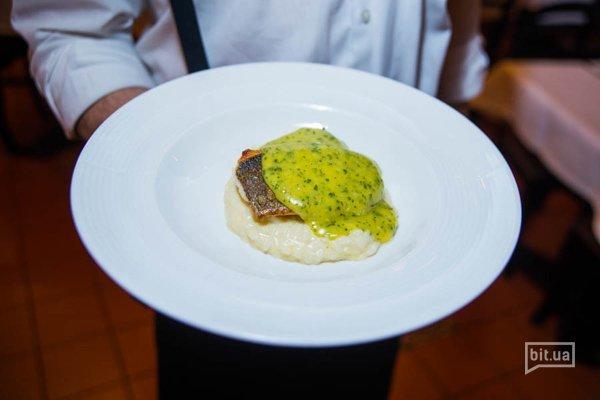 Филе дорадо с лимонным ризотто - 204 грн