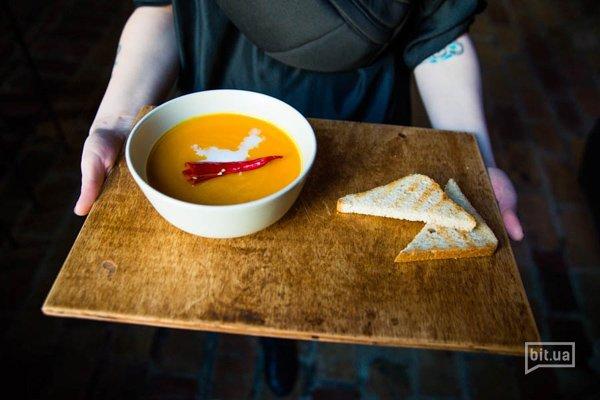 Тыквенный суп-пюре с кокосом и имбирем - 45 грн
