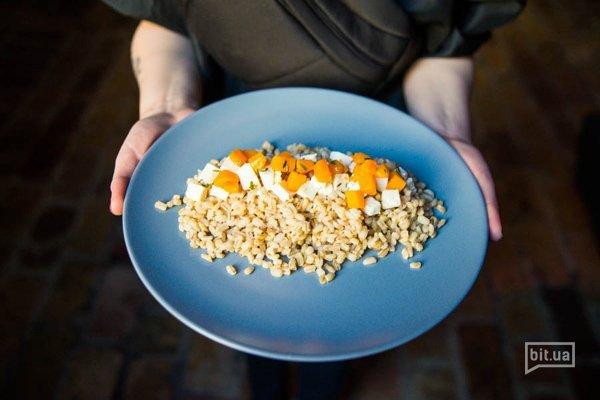 Перловая каша с запеченной тыквой и сыром - 35 грн