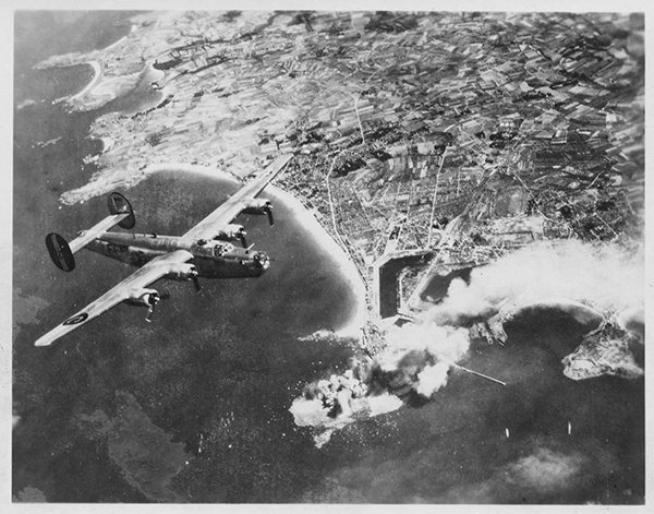1944 B-24 Over St Malo France