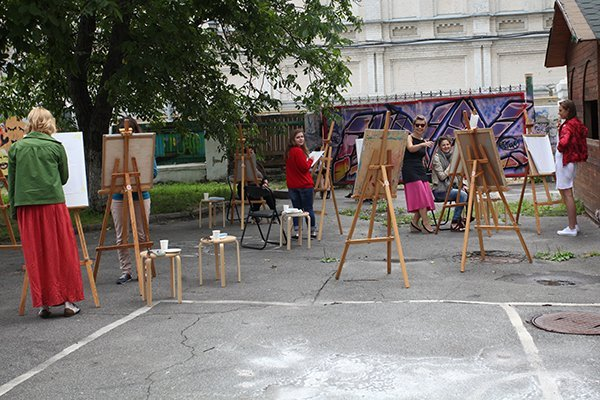 Літня школа з Тетяною Горюшиною (акварель) 2014