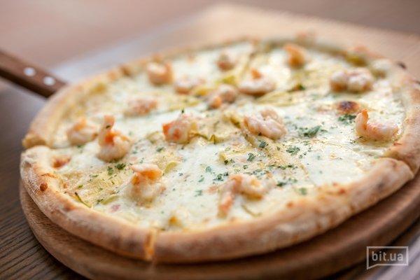 Пицца с креветками и цукини - 410гр, 185грн