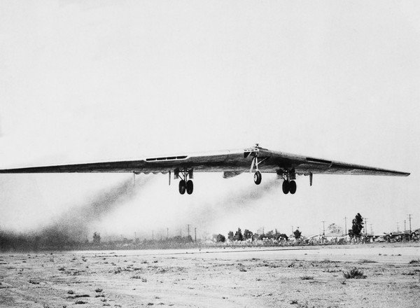 NOVEMBER 6TH 1947, USA, CALIFORNIA, NORTHROP YB 49 TAKING OFF