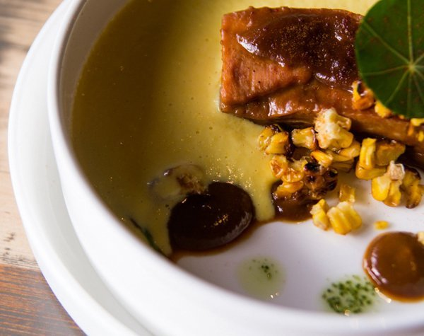 Кукурузный суп с мисо-ребрами — 105 грн