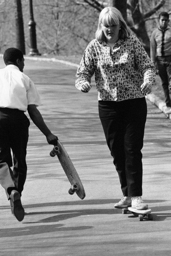 Skateboarding In Central Park