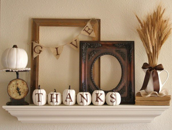 accessories-and-furniture-fascinating-minimalist-creative-and-easy-diy-thanksgiving-home-decor-ideas-with-lovely-white-tiny-pumpkins-antique-photo-frames-and-weigher-and-lovely-wheat-in-jar-a