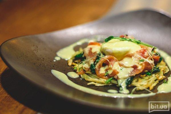 Яйцо-пашот с лососем - 115