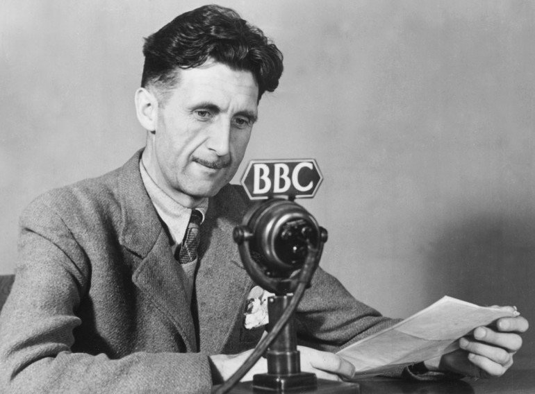 George Orwell (pen name for Eric Blair), in his wartime role as broadcaster at BBC.