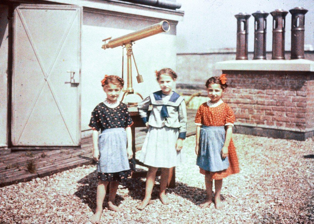 Children on a rooftop, c. 1920?s.