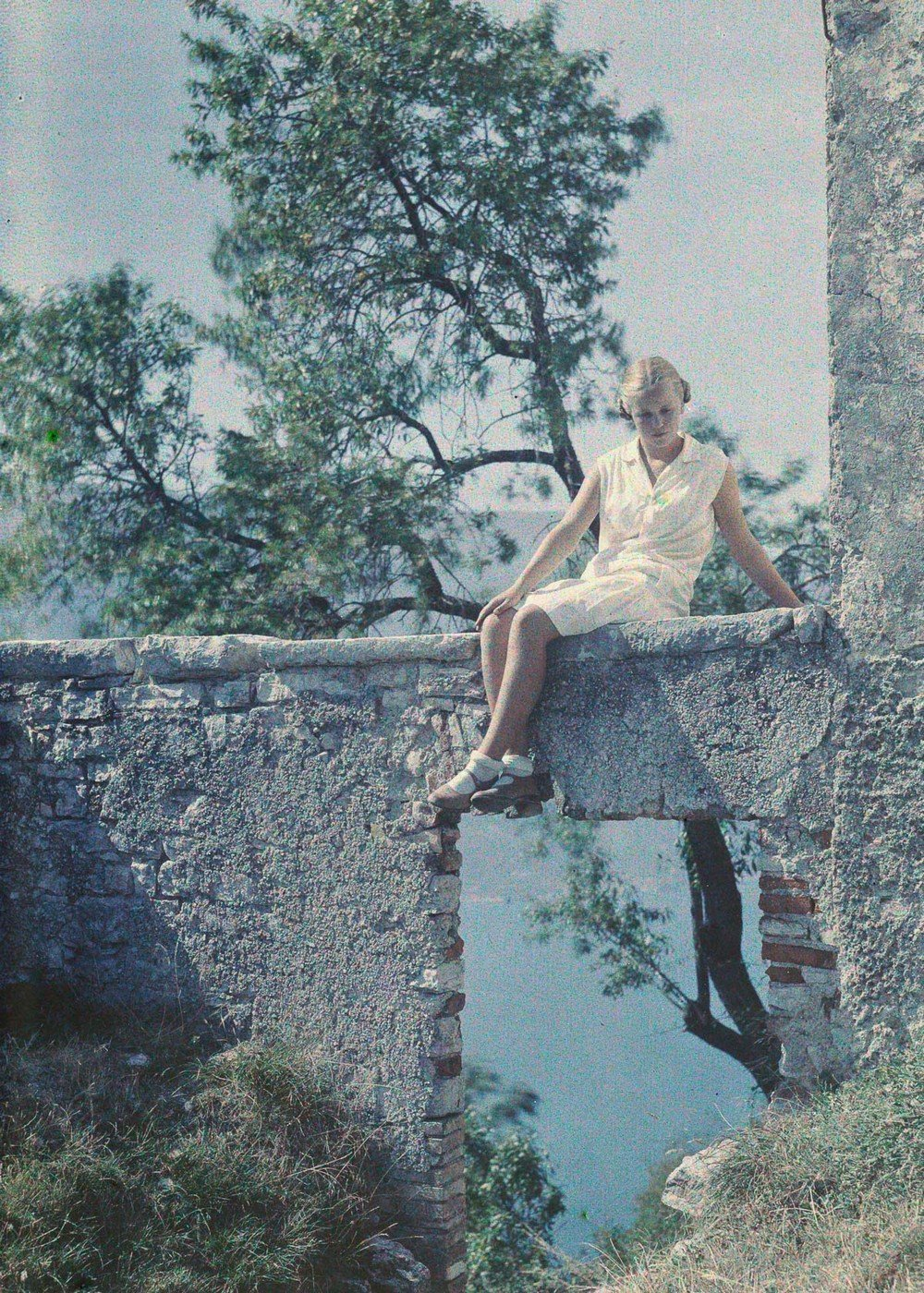 Eva Paneth at Lake Garda, c.1930.