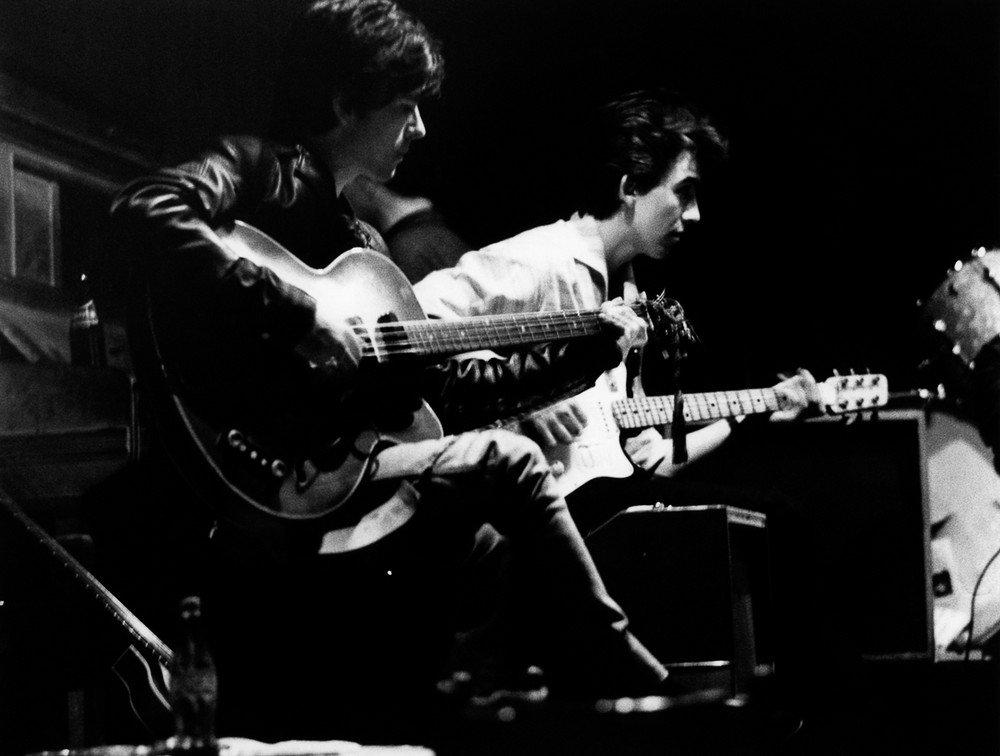 Photo of George HARRISON and Stuart SUTCLIFFE