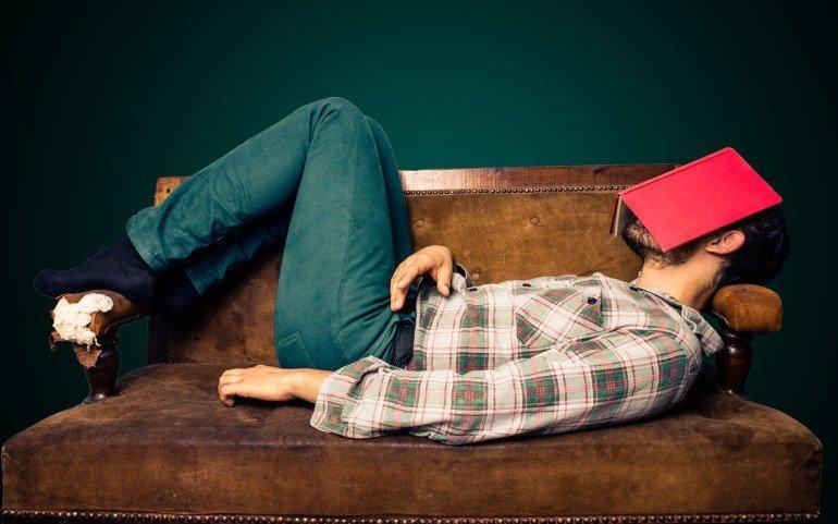 Man-sleep-during-read-book-funny-photos