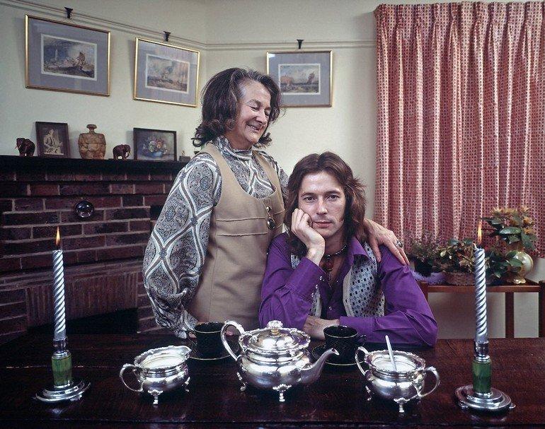 Rock musician Eric Clapton w. his grandmother Rose