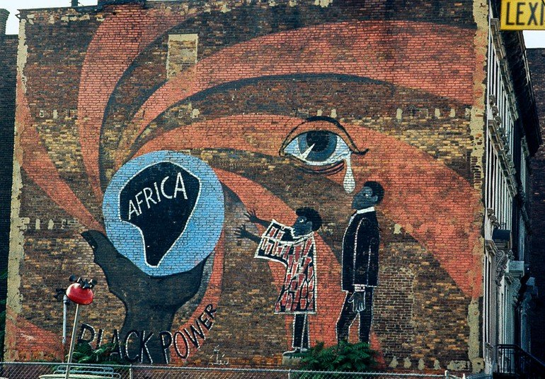 Black Power Mural, Lexington Ave., Harlem, 1970