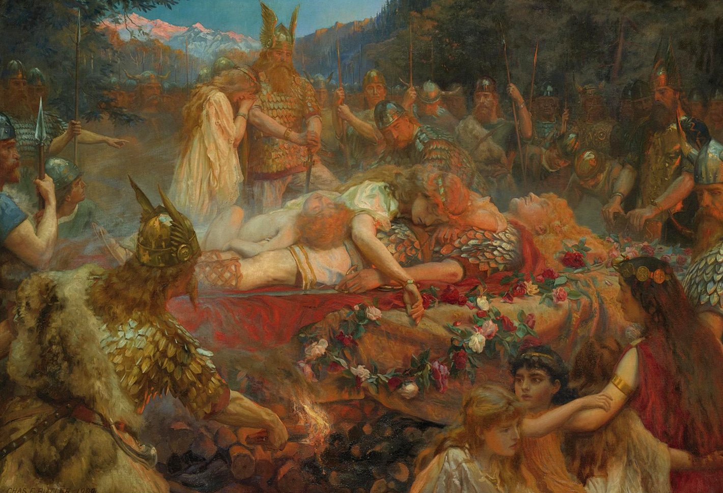 Charles Ernest Butler - Funeral of a Viking Warrior