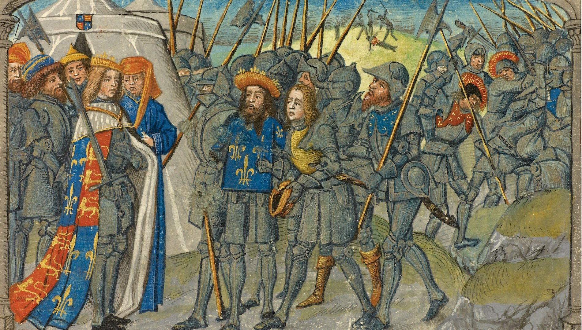 hundreds years war History magazine history magazine how joan of arc turned the tide in the hundred years' war divine voices guided the young farm girl joan of arc to lead the french against the english.