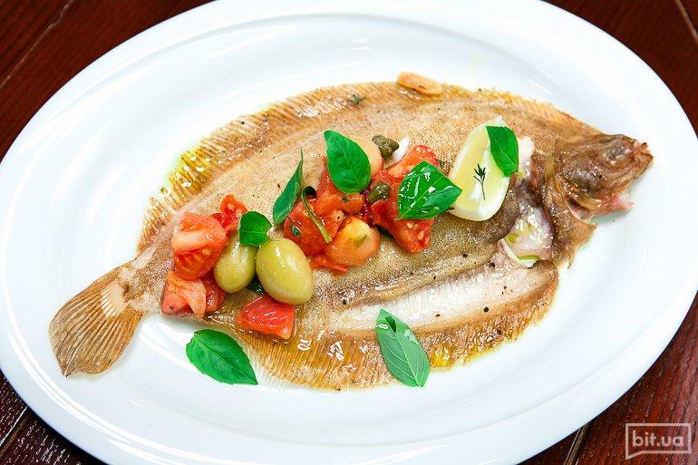 Морской язык запеченный - 458 грн (блюдо для двоих)