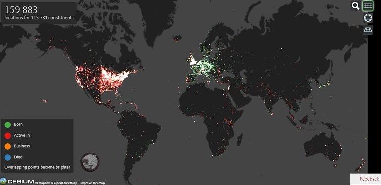 карта фотографов