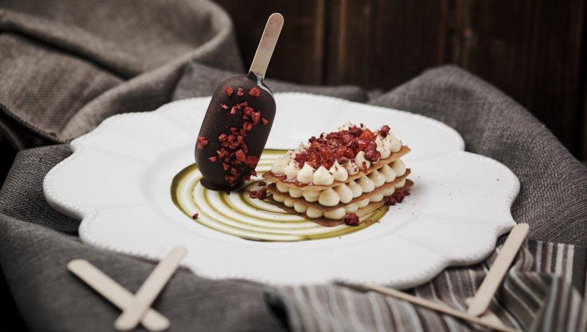 Bigoli. Мілфей з ягодами